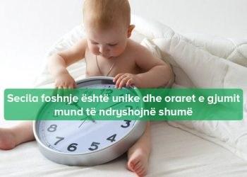 orari i gjumit per foshnje