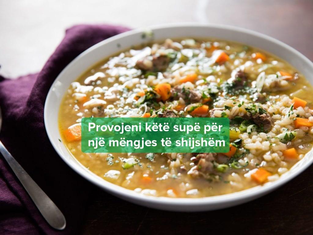Supë me Mish Viçi dhe Perime