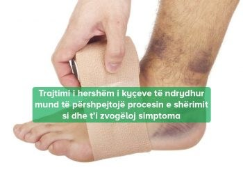 mjekojme kycin e ndrydhur te kembes