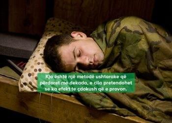teknike ushtarake per probleme me gjumin
