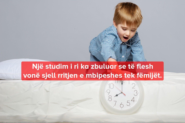 gjumi vone shkakton obezitet tek femijet